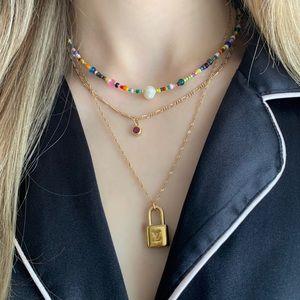 Handmade item - Colourful Beaded Choker - Pearl